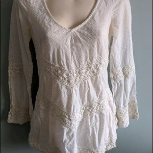 Free people lace and eyelet tunic